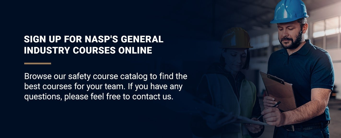 Sign up for NASP's General Industry Courses